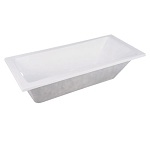 59-Inch Acrylic Drop-In Rectangular Tub with Reversible Drain
