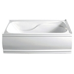 60 Inch Contemporary Alcove Acrylic Bath Tub- Right Hand Drain