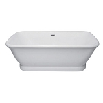 71 Inch Contemporary Pedestal Double Ended Acrylic Bath Bath Tub with Drain