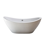 Seneca 65 Inch Acrylic Tub with Drain