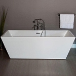 Great Lake 71 Inch Acrylic Double Ended Tub with Drain - No Faucet Drillings