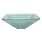 Crystal Glacier Vessel Sink, Clear